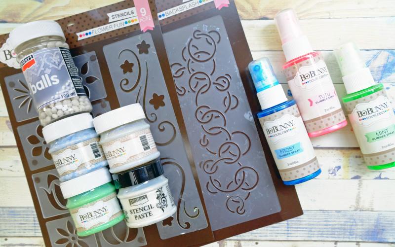 Joyful_MixedMedia_Monday_Ayumi_Iwashita_BoBunny_Serendipity_Collection_Pentart_Stencil_Paste_02